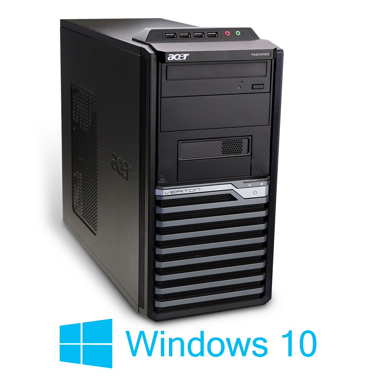 game pc acer veriton m490g tower core i3 2x 3 2ghz 4gb 320gb dvdrw win10home64 ebay. Black Bedroom Furniture Sets. Home Design Ideas